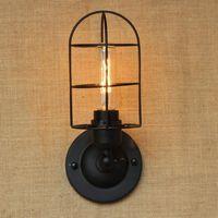 الجدار مصباح الصناعية البرتغالية نمط البسيطة خمر لوفت قابل للتعديل العتيقة الأسود المعادن ضوء الشمعدان تركيبات لغرفة العمل
