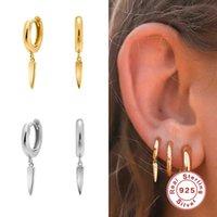 Assistente 925 esterlina prata rebite cônico diamante brincos para mulheres piercing brinco brinco orelha ósso fivela jóias brincos