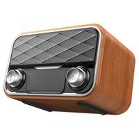 Retro Bookshelf Bluetooth Speaker Dual Altofalantes Dupla Subwoofer Surround Sound FM Rádio Rádio TF Cartão AUX U Música de Disco