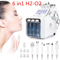 6 IN1 H2-O2 Hydro Dermabrasion RF Bio-Lifting Spa Facial Ance Pore Cleaner Hydro Microdermabrasion 기계 스킨 케어 도구 DHL