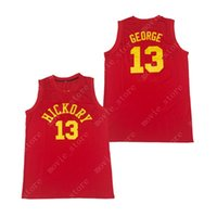 Men's Paul George 13 Hickory Hoosiers Basketball Jersey Stitched