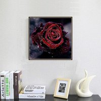 Paintings 5D DIY Big Red Rose Embroidery Rhinestone Pasted Diamond Painting Cross Stitch Kits Home Decoration Wall Paste