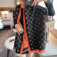 Invierno Cashmery Bufanda Mujeres Diseño Imprimir Pashmina Mantones y envolturas Grueso Femenino Cálido Bufanda Estoles Hijab Manta 180 * 65cm