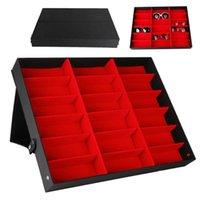 18 Grids Grids Occhiali da sole Occhiali da sole Occhiali Storage Display Box Holder Case Organizer MDJ998 X0703