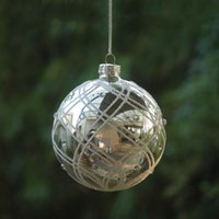 Party Decoration 12pcs pack Diameter=10cm Middle Size Electroplating Silver Christmas Day Glass Ball Handmade Globe Pendant Home