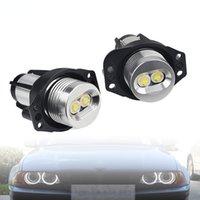 외관 장식 조명, BMW에 적합 E90 6W LED 천사 전면 조명 조리개 빛 12V 흰색 빛, 고품질 슈퍼 밝은 램프 구슬