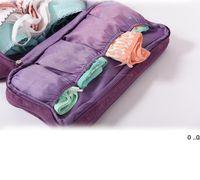 Travel Multi-function Bra Underwear Storage bag Packing Organizer Socks Cosmetic Case Large Capacity Women Clothing Pouch Bags EWA7263