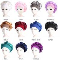 10pcs lot Women Ladies Strech Hair Care Bonnet Satin Night Sleep Hat Head Wrap Adjustable Shower Caps Hair Loss Chemo Hat Beanies