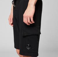 2021 Top Quality CP homens mulheres vestuário tingido luz lente lente shorts cordão elástico banda esporte calças casuais m-xxl lt