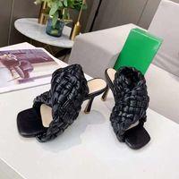 Zapatos de mujer de tacón alto de lujo Zapatos de tacón alto negro Tacones de tacón alto Vestido de novia de mujer Caja Shoelace Shoe008 1-77