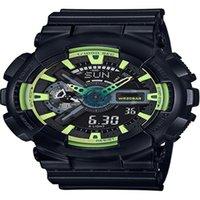 Высокое качество G110 Спортивные часы Хронограф Водонепроницаемые Мужские Часы Все функции могут работать мужские кварцевые наручные часы