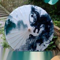 Umbrellas 100CM Rain Women Proof Sunscreen Paper Umbrella Bamboo Classic Dance Performance Ink And Wash Paraguas Parasol