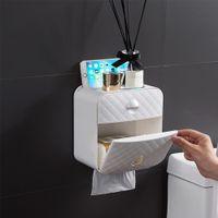 Держатель для туалета Водонепроницаемая бумажная полотенце держатель настенный монтируемый WC Roll Paper Stand Case Tube Collection Box аксессуары для ванной комнаты 71 S2