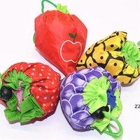 Складные покупки экологически чистые сумки креативные фрукты печать полиэстер портативный подарок сумка HWF8271