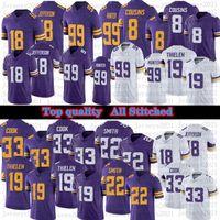 Mens Women Football Youth 18 Justin Jefferson 33 Dalvin Cook 99 Danielle Hunter 8 Kirk Cousins 22 Harrison Smith Stitched Jerseys