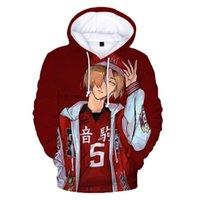 Haikyuu 3d felpe con cappuccio Bokuto Kageyama Kenma Kozume Giappone Volleyball Junior Felpa Uomini / Donna Pullover Anime Haikyuu !! Vestiti