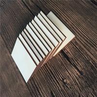 Оригинальность древесины чипсы DIY пустая роспись квадратных прямоугольников искусств и ремесел взрослых детей украсить деревянные ломтики партии опора 0 23TY K2