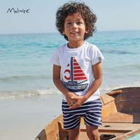 Новый носитель 2021 детский мальчик Malwee с короткими рукавами мальчики «Летний костюм»