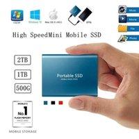 스마트 홈 컨트롤 SSD 4TB 2TB 1TB 500G 휴대용 외장 하드 드라이브 USB 3.1 유형 C 솔리드 스토리지 고속 저장
