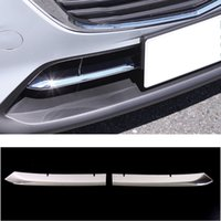 UBLUEE FOR MAZDA CX-3 CX3 2017 2018 2018 2019 Zubehör Auto Front Stoßstange Grill Bottom Cover Trim Cover Exterior ABS Chrome Aufkleber
