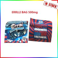 Hot New 500mg Errlli Gummi Sharks Edible Packaging Smell Proof Bags Warheads Skittles Edibles Empty Candy Mylar Bags Pouch Package Fast deliver