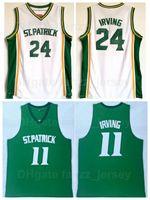 Святой Патрик средняя школа баскетбол 24 в Кири Ирвинг Джерси 11 цвет белого белого цвета
