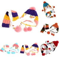 Jocestyle Baby зимняя вязаная шапка для ушей и шарф шарф детские теплые шапочки шапочки Dropshipping