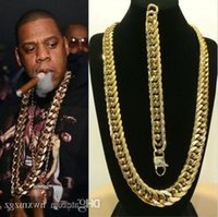 Solid 14k Yellow Gold Finish Stainless Steel Miami Cuban Link Chain &Bracelet
