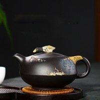 370 ml Yixing Zisha Pot Tetera de gran capacidad de tetera hecha a mano de té de té de cerámica de cerámica de cerámica conjunto conjunto de taza de té