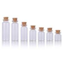 Маленькие стеклянные бутылки дрейфующие крошечные четкие пустые желающие флакона стекло контейнер с пробкой 1000 шт. Лот 2 мл-30 мл