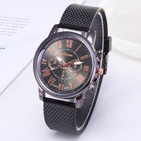 Оптом cwp shshd бренд geneva mens смотреть контрактные двойные кварцевые часы пластиковые сетки ремень наручные часы