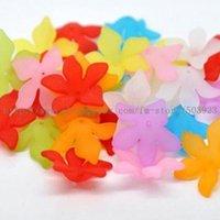 Großhandel 28mm 200pcs / lot Sortierte Farbe Blume Acryl Perlen Modeschmuck Zubehör Freies Verschiffen Multi-Color Für verschiedene Anlässe