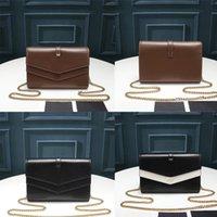 النساء 2021 المصممين الفاخرة الأزياء الفاخرة sulpice سلسلة المحفظة السلس الجلود مخلب محفظة crossbody حقيبة فاخرة سلسلة