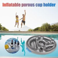 Party Decoration Inflatable Float Beer Table Bar Tray Beach Cool Swimming Pool Ring Accessories Circle Coasters Decor