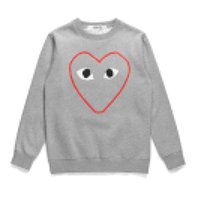 Best Quality HOLIDAY C025B Black com des garcons Men's Casual Half Heart CDG Play Round Collar Pullover Sweatshirts Hoodies Coats