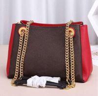 حقيبة جلدية حقيقية Malle Surene حقيبة مصممين حقيقي حقيبة يد جذع 100٪ 37 سنتيمتر عالية BB حمل الجلود الكتف Taurillon Luxurys Shopping Quali