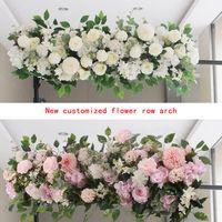 Decorative Flowers & Wreaths 50 100cm Wedding Flower Row Arch Arrangement Stage Road Lead Scene Layout Party Decoration Floral
