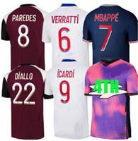 2020/21 باريس لكرة القدم جيرسي 2020 2021 باريس لكرة القدم الفانيلة قميص mbappe icardi لكرة القدم القمصان survetement mailleot de القدم customiz