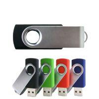 360° Rotate Metal Usb Flash Drives Pen Drive Keychain Pendrive 4G 8G 16G 32GB 64G 128G Memory Card