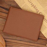 Moda erkekler cüzdan para klip çanta cüzdan erkek debriyaj çanta çanta ince minimalist kullanışlı ince kısa 2 seçenekleri d5jt #