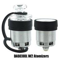 Autêntico Dabcool W2 Etail Atomizer Hookah Cera Concentrate Bobina Budder Dab Rig Vape Kit com 4 configurações de calor duradoura