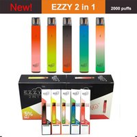 Authentic EZZY 2 in 1 Disposable Vape pod device 2000 Puffs Switch Vaporizer Pods 6ml Cartridge 900mah Battery Ecig Starter Kit