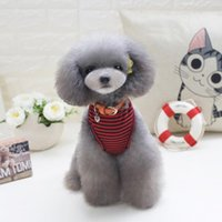Dog Apparel Pet Clothes T-shirts Puppy Cute Sport Soccer Jersey Cat Striped Vest Outfit Spring Coats Vests For