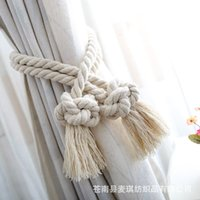 Chinese Romantic Su knot curtain binding rope hanging ball cotton rope curtain buckle hand woven curtain binding rope