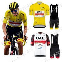 Emirados Árabe Equipe França Tour 2021 Ciclismo Jersey Set Verão Vestuário Road Road Bike Camisas Terno Bicicleta Bib Calções MTB Wear Maillot Culotte