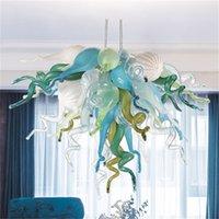 Moderno stile Art Style Arcobaleno Lampadari a catena Pendente Light Livingroom H Otel Lampadario in vetro soffiato a mano Blown Lampada Accetta Personalizzazione