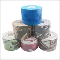 Elbow Safety Athletic Outdoor As Sports Outdoorselbow & Knee Pads 3 Roll Lot 5 Cm*5 M Camo Kinesiology Tape Cotton Self Adhesive Boob Sport