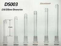 유리 다운 시스템 19mm / 14mm 흡연 액세서리 제조업체 제조업체 다운 시스템 디퓨저와 18 홀 무료 배송 DS003