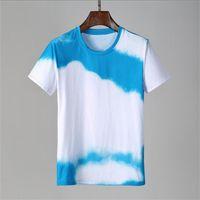 2021 New Summer Cotton Tshirt floreale serpente da ricamo moda moda manica corta T Shirt da uomo T-shirt da uomo T-shirt da uomo Homme di lusso # 6505 T-shirt
