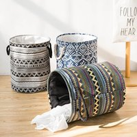 Storage Baskets Boho Waterproof Bag Household Bathroom Dirty Laundry Basket Folding Clothing Bucket Clothes Toys Organizer